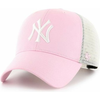 Cappellino trucker rosa chiaro MVP Flagship di New York Yankees MLB di 47 Brand