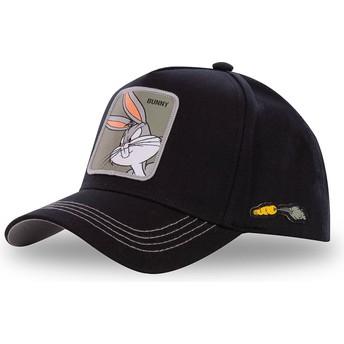 Cappellino visiera curva nero snapback Bugs Bunny BUN3 Looney Tunes di Capslab