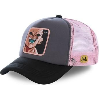 Cappellino trucker grigio e rosa Kid Buu BUU3M Dragon Ball di Capslab