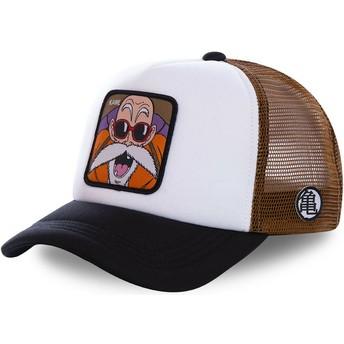 Cappellino trucker bianco, marrone e nero Master Roshi KAM3M Dragon Ball di Capslab