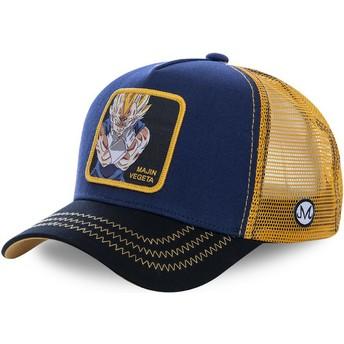 Cappellino trucker blu marino e giallo Majin Vegeta MV1 Dragon Ball di Capslab