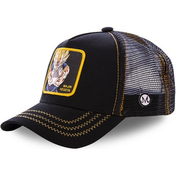 Cappellino trucker nero Majin Vegeta MV2 Dragon Ball di Capslab