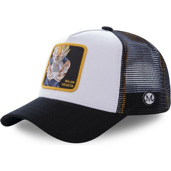 Cappellino trucker bianco e nero Majin Vegeta MV4 Dragon Ball di Capslab