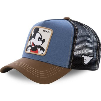 Cappellino trucker blu, nero e marrone Topolino MIC1 Disney di Capslab