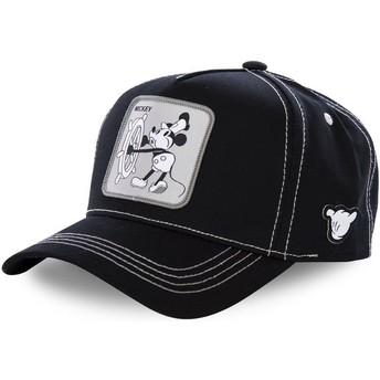 Cappellino visiera curva nero snapback Topolino Vintage VIN1 Disney di Capslab