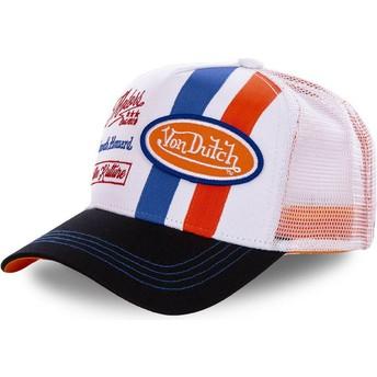 Cappellino trucker bianco e arancione MCQORA di Von Dutch