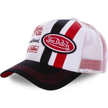 Cappellino trucker bianco e rosso MCQRED di Von Dutch