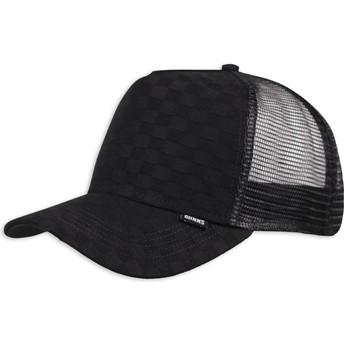 Cappellino trucker nero Louicheck di Djinns