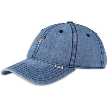 Cappellino visiera curva blu denim regolabile Coloured Girl di Djinns
