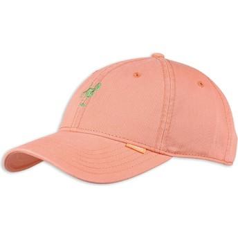 Cappellino visiera curva rosa regolabile Washed Girl di Djinns