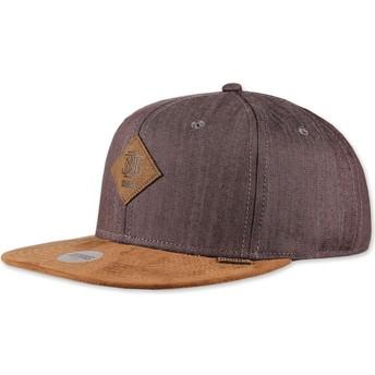Cappellino visiera piatta marrone snapback Linen 2015 di Djinns