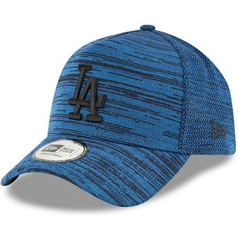 Cappellino visiera curva blu regolabile con logo nero 9FORTY A Frame Engineered Fit di Los Angeles Dodgers MLB di New Era