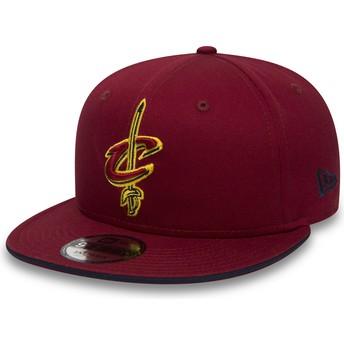 Cappellino visiera piatta rosso snapback 9FIFTY Team di Cleveland Cavaliers NBA di New Era