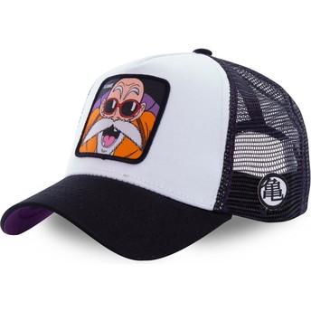 Cappellino trucker bianco Master Roshi KAM4 Dragon Ball di Capslab