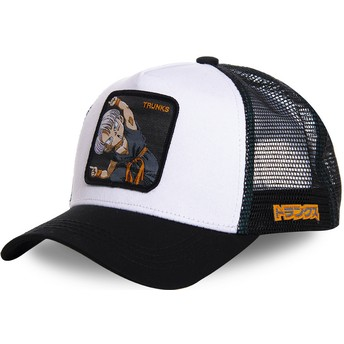 Cappellino trucker bianco Trunks Fusion TRK2 Dragon Ball di Capslab