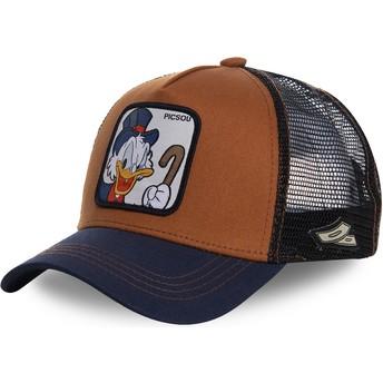 Cappellino trucker marrone e blu marino Paperon de' Paperoni SCR1 Disney di Capslab