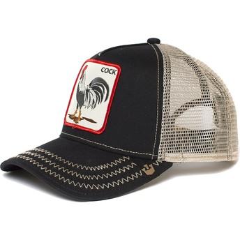 Cappellino trucker nero gallo Rooster di Goorin Bros.