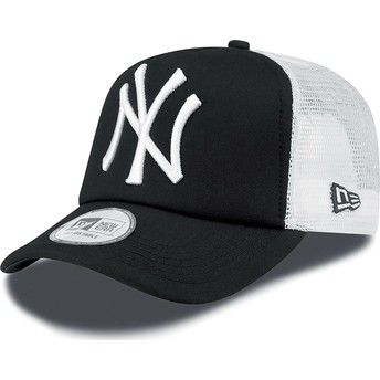Cappellino trucker nero Clean A Frame di New York Yankees MLB di New Era
