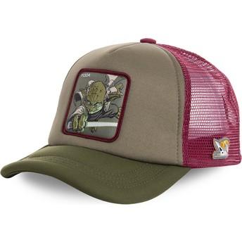 Cappellino trucker verde e rosso Yoda YOD4M Star Wars di Capslab