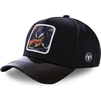 Cappellino visiera curva nero snapback Venom VEN3 Marvel Comics di Capslab