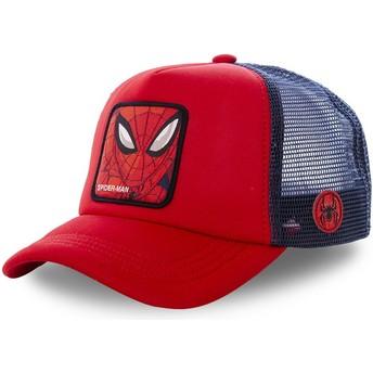 Cappellino trucker rosso e blu Spider-Man SPI4M Marvel Comics di Capslab