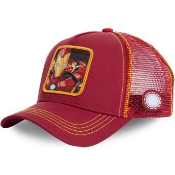 Cappellino trucker rosso e giallo Iron Man IRO1 Marvel Comics di Capslab