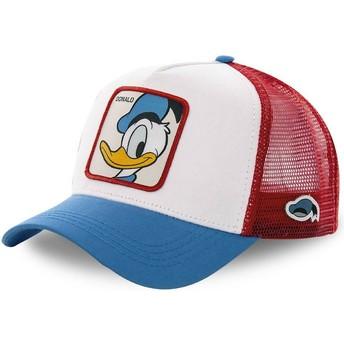 Cappellino trucker bianco, rosso e blu Paperino DUC2 Disney di Capslab