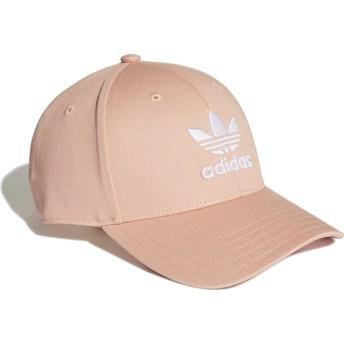 Cappellino visiera curva rosa regolabile Trefoil Baseball di Adidas