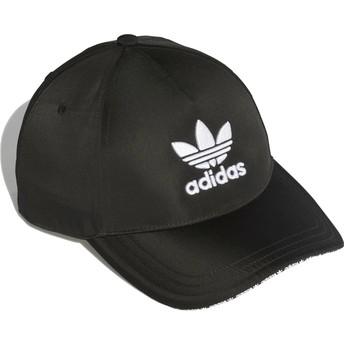 Cappellino visiera curva nero regolabile Trefoil Sandwich di Adidas