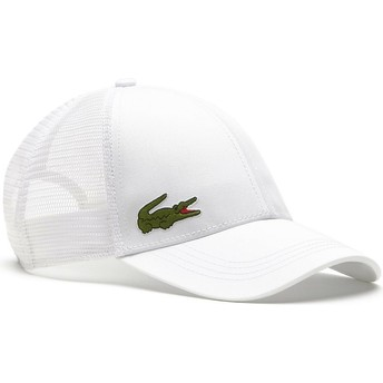 Cappellino trucker bianco di Lacoste