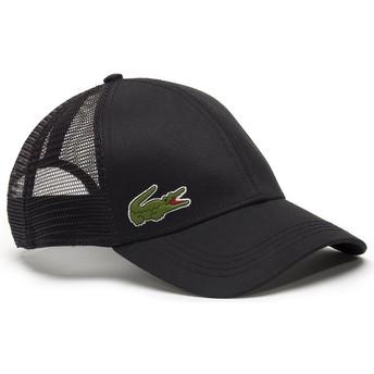 Cappellino trucker nero di Lacoste