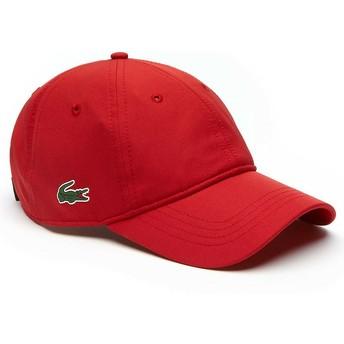 Cappellino visiera curva rosso regolabile Basic Dry Fit di Lacoste