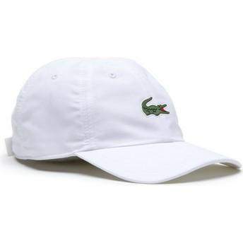 Cappellino visiera curva bianco regolabile Croc Microfibre di Lacoste
