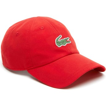 Cappellino visiera curva rosso regolabile Croc Microfibre di Lacoste