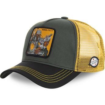 Cappellino trucker verde e giallo Boba Fett BOB Star Wars di Capslab