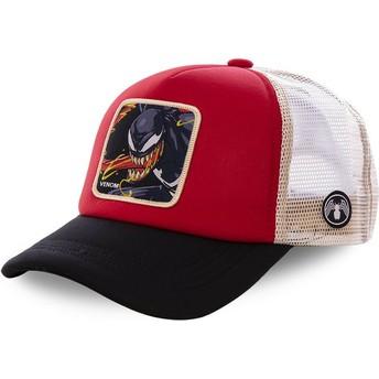 Cappellino trucker rosso, bianco e nero Venom VEN4M Marvel Comics di Capslab