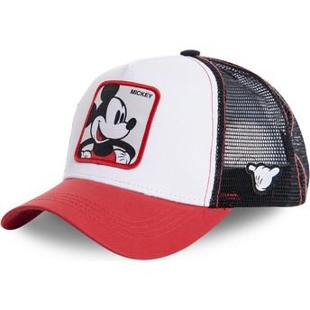 Cappellino trucker bianco, nero e rosso Topolino MIC4 Disney di Capslab
