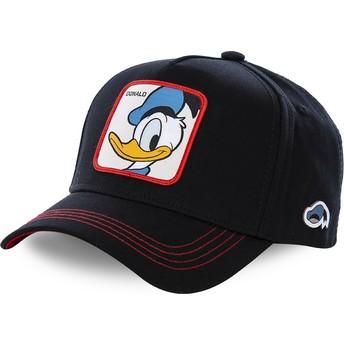 Cappellino visiera curva nero snapback PaperinoDUC3 Disney di Capslab