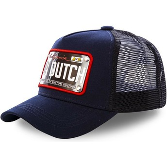 Cappellino trucker blu marino con placca California CAL2 di Von Dutch