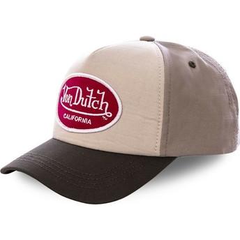 Cappellino visiera curva beige snapback JAC BEG di Von Dutch
