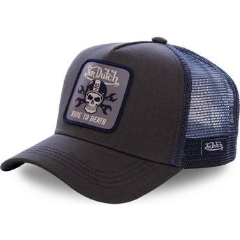 Cappellino trucker nero e blu GRN4 di Von Dutch
