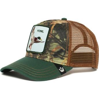 Cappellino trucker verde e marrone Duck Duck di Goorin Bros.