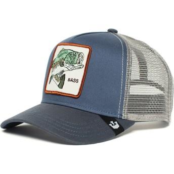 Cappellino trucker blu pesce Big Bass di Goorin Bros.