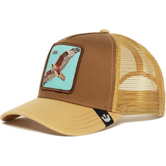 Cappellino trucker marrone falco High di Goorin Bros.