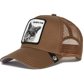 Cappellino trucker marrone volpe Silver Fox di Goorin Bros.