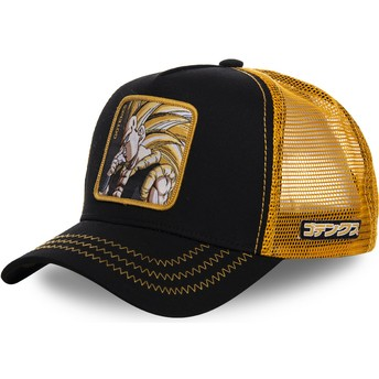 Cappellino trucker nero e giallo Gotenks Super Saiyan 3 GOT2 Dragon Ball di Capslab