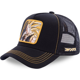 Cappellino trucker nero Gotenks Super Saiyan 3 GOT3 Dragon Ball di Capslab
