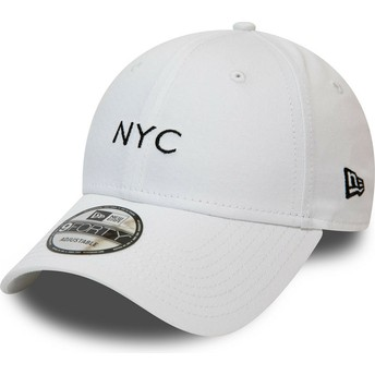 Cappellino visiera curva bianco regolabile 9FORTY Seasonal NYC di New Era