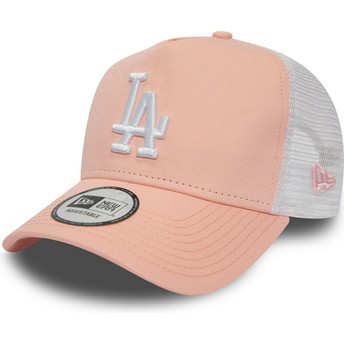 Cappellino trucker rosa League Essential A Frame di Los Angeles Dodgers MLB di New Era