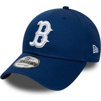 Cappellino visiera curva blu regolabile 9FORTY League Essential di Boston Red Sox MLB di New Era
